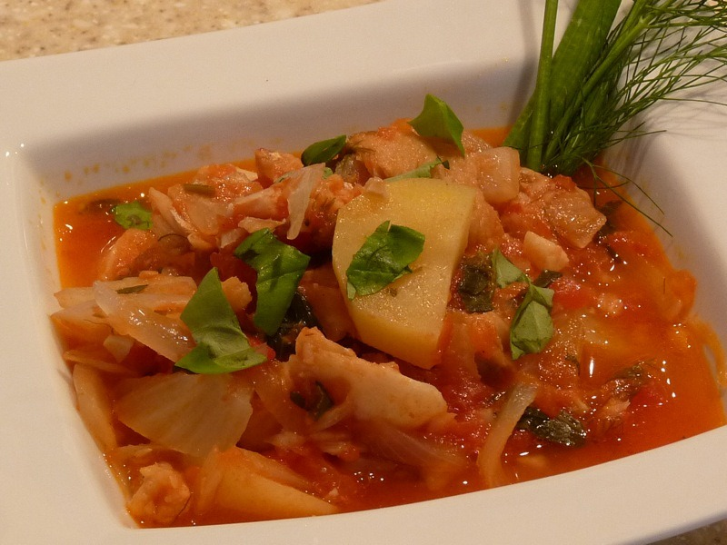 Italian cod stew for Fish soup cod