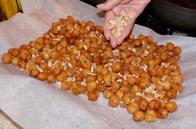 Struffoli (Fried Dough With Honey And Almonds) Recipes — Dishmaps