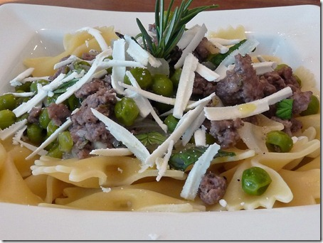 Bowtie Pasta with Lamb
