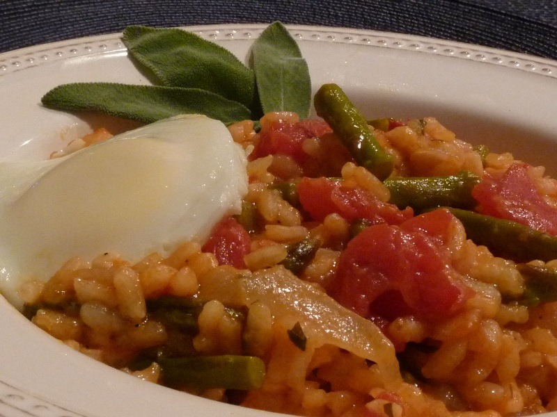 Asparagus Risotto with Egg | Linda's Italian Table