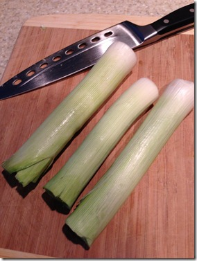 leeks - light green and white parts