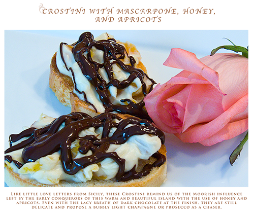 Picture of Crostini with Mascarpone, Honey and Apricots