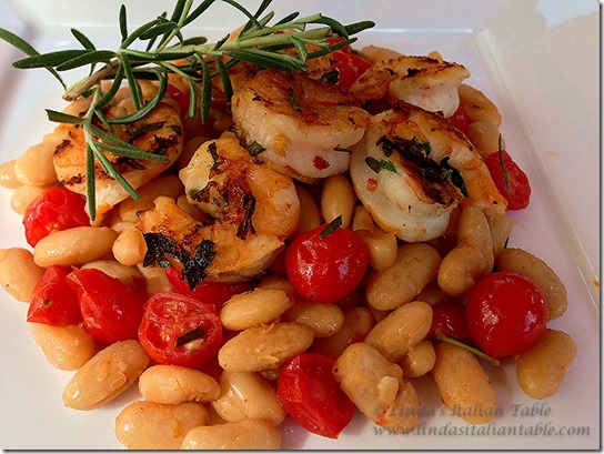 Grilled Shrimp and Tuscan Beans-2
