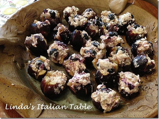 Figs Stuffed with Goat Cheese and Blueberries -copy with script