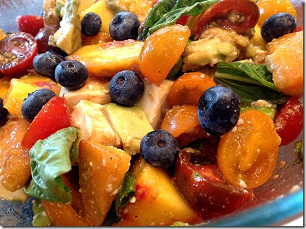 Peach Caprese with Blueberries - another