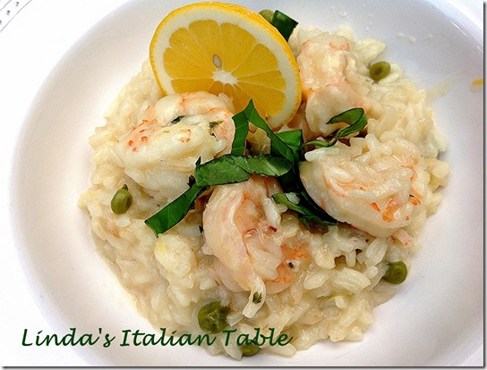 Lemon Risotto with Shrimp - finish with script