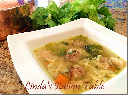 Escarole Soup finish with script -