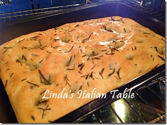 Rosemary Focaccia finish with script