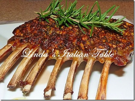 Rack of Lamb with Herb and Pistachio Crust with script