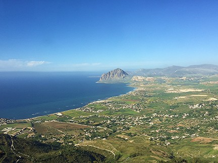 View from Erice - ancient city-hour south of Palermo
