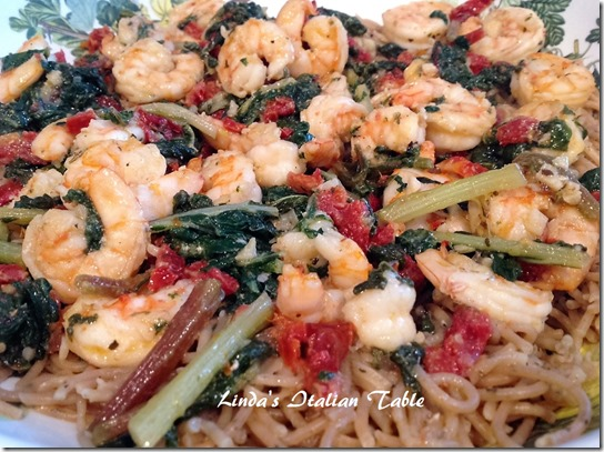Pasta with Shrimp and Greens Finish 2 with script