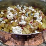 May: Roasted Diced Potatoes with Gorgonzola