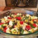 July: Grilled Corn Salad Caprese Style